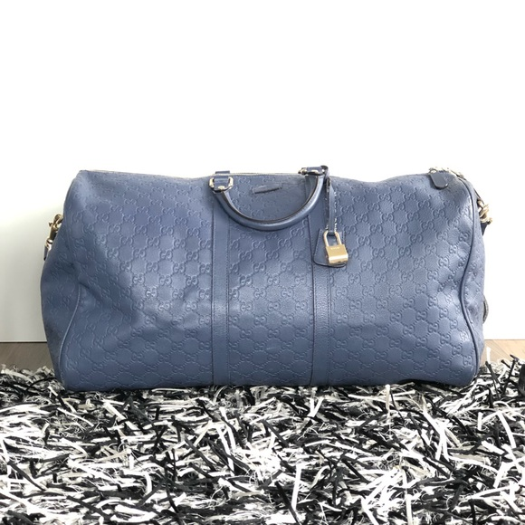 557f2d49c849 Gucci Bags | Gg Limited Edition Large Duffle Bag Blue | Poshmark